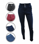 Wholesale Womens Ex Chainstore High Waisted Skinny Fit Jeans 3 Button